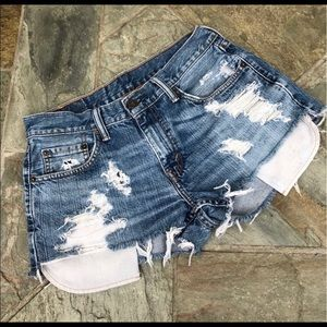 Levi's   559 Cutoff Denim Shorts